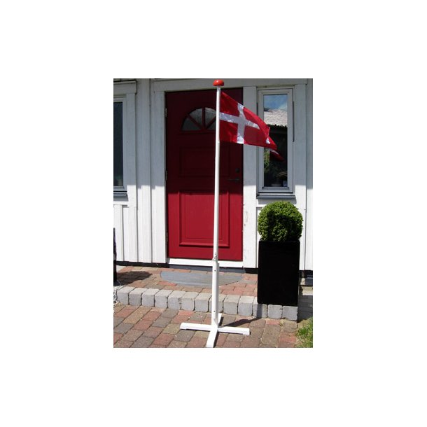 2 Meter Luksus flagstang med krydsfod