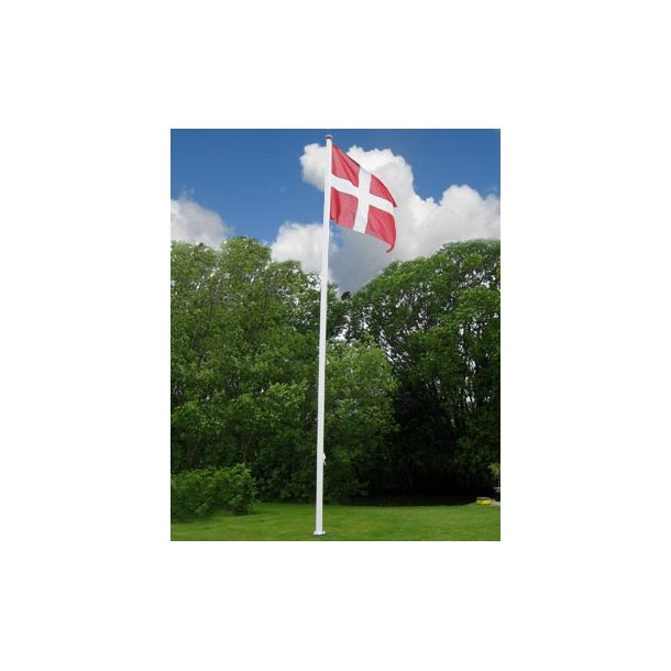 10 m glasfiberflagstang med vippebeslag